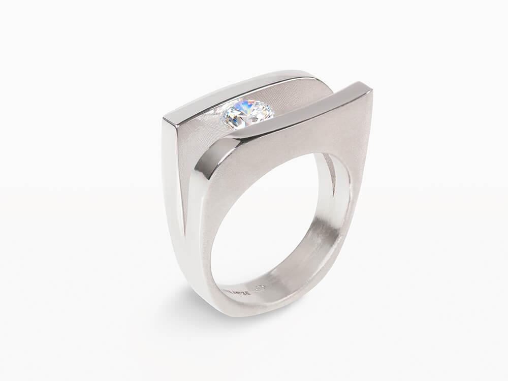 Nieuw 3 - Ring in witgoud met diamant